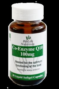 Co-EnzymeQ10 100mg (30 Capsules)