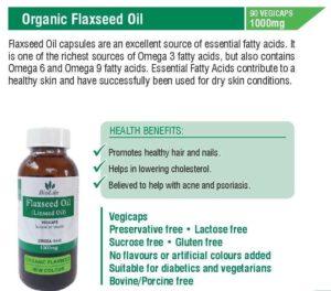 Flaxseed Oil 1000mg (90 Capsules)