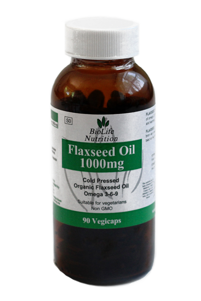 Flaxseed Oil 1000mg (90 Capsules)