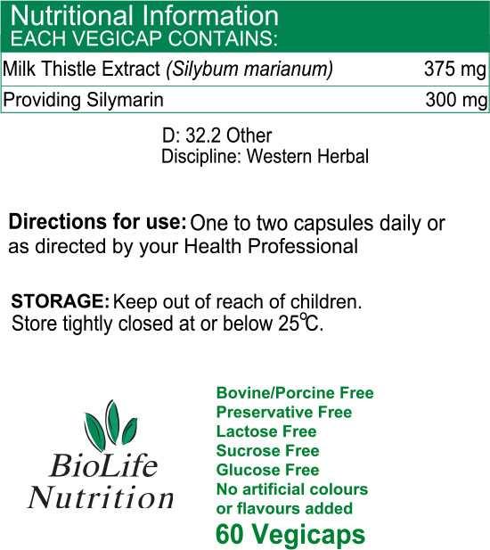 Milk Thistle 375mg (60 Vegicaps)