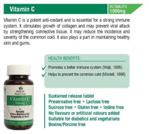Vitamin C 1000mg (60 Tablets)