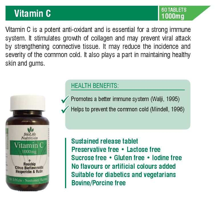 Vitamin C 1000mg (60 Tablets)